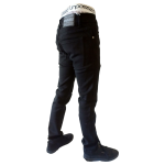 UNPA PANTS DENIM SLIM BLACK 051 B