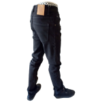 UNPA PANTS DENIM SLIM BLACK 056 B