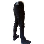 UNPA PANTS DENIM SLIM BLACK 058 B 1
